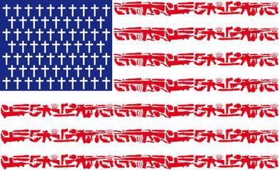 ARMES DRAPEAU USA