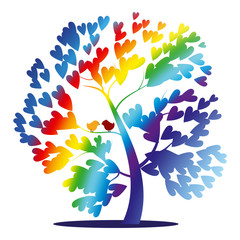 Vector rainbow tree