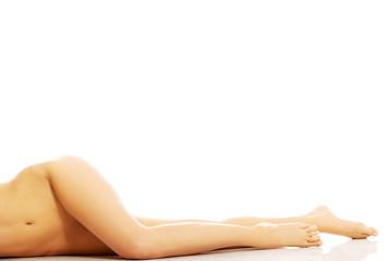 Beautiful woman's nude legs