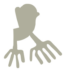 Nazca Lines Hands Symbol Vector