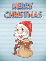 Retro christmas poster
