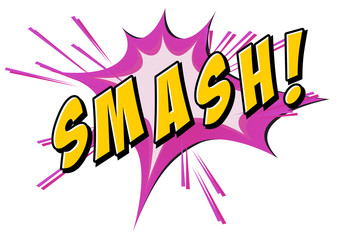.Smash flash on white
