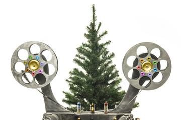 Cinema and new years tree