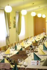 elegant dinner table wedding restaurant menu