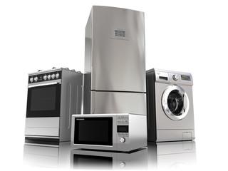 Obraz Home appliances. Set of household kitchen technics - fototapety do salonu
