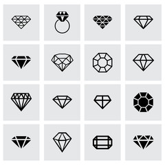 Vector diamond icon set