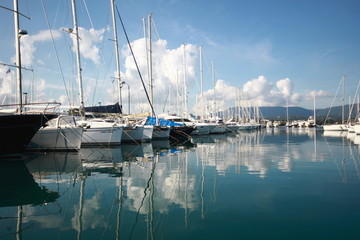 View Across a Calm Marina