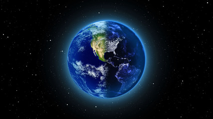 Planet Earth in universe, space, galaxy