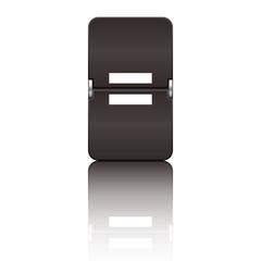 Departure board letter black - equal