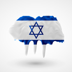 Flag of Israel painted colors