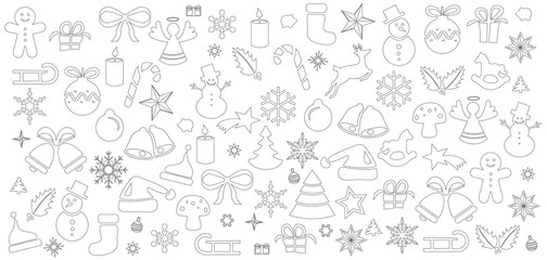 Weihnachten Ornament Icons Karte Hintergrund Muster weiss