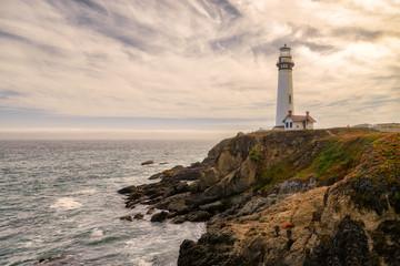 Photo sur Aluminium Phare Lighthouse Pigeon Point, California