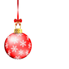 festive christmas background with ball
