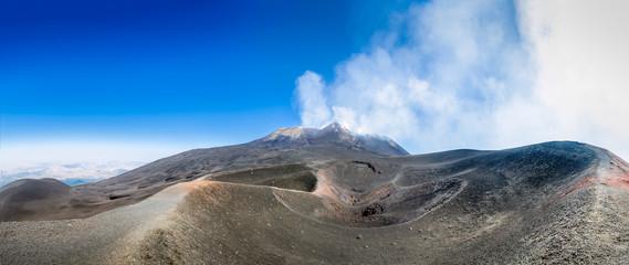 Mount Etna volcano panorama Fototapete