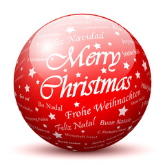 Merry Christmas, Ball, Sphere, Texture, red, Rot, Glaskugel, 3D