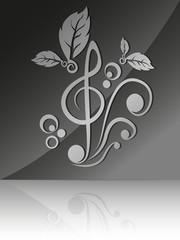 Illustration of a treble clef