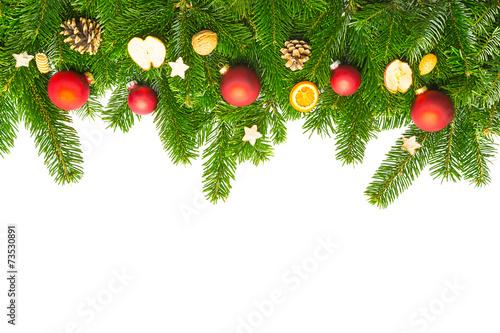 tannenzweige mit weihnachtskugeln deko stockfotos und lizenzfreie bilder auf. Black Bedroom Furniture Sets. Home Design Ideas