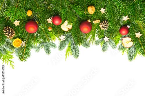 Weihnachtsdeko auf tannenzweigen stockfotos und for Weihnachtsdeko bilder gratis