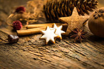 Weihnachtliches Gebäck Zimtsterne