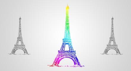 Paris art design illustration