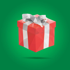 Abstract Creative concept vector icon of gift box for Web and Mo