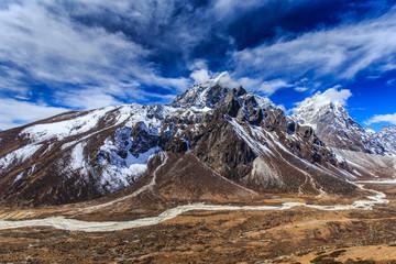 Beautiful alpine scenery in the Himalayas
