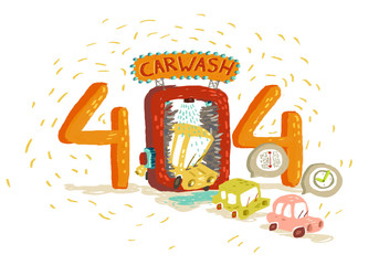 Special carwash and three cars
