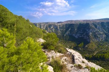Veduta di una valle