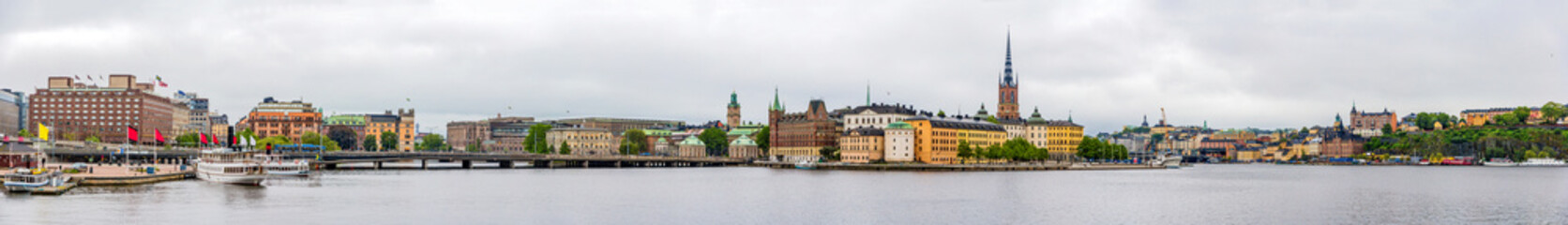 Panorama of Stockholm city center - Sweden