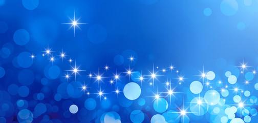 shiny blue greeting card background