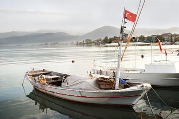 boats in the lagoon, Turkey