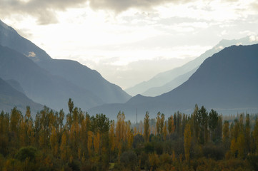 Mountains  near Ghizer Valley in Northern  Pakistan