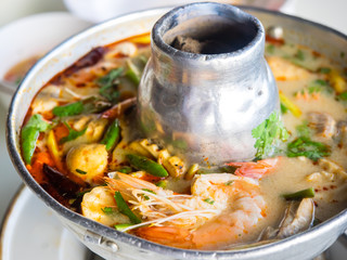 Tom Yum Kung, Thai famous soup.