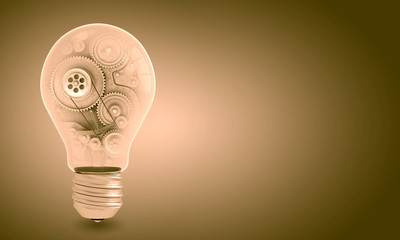 Light bulb with gears