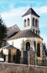 Church to Basilica Sacre Coeur - Paris, France.