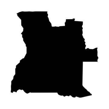 vector map of map of Angola