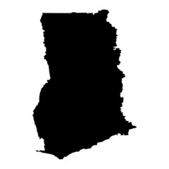 vector map of map of Ghana