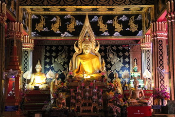 Wat Phra Sing temple Chiang Mai Province Asia Thailand .