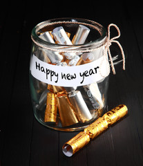 Simple Happy New Year Concept Decoration