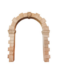 Obraz stone arch architecture isolated on white background, cliping pa - fototapety do salonu