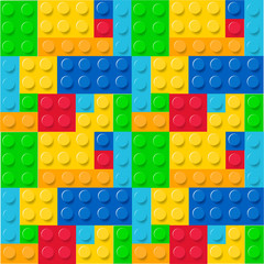 Lego pattern vector