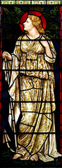 Woman in stained glass