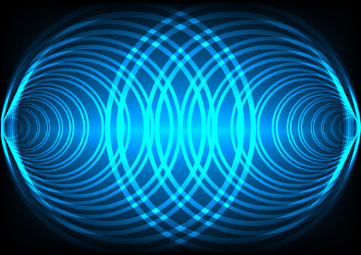 Abstract background wave surround technology