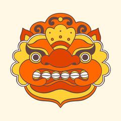 Traditional balinese mask. Barong.