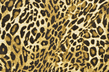 Brown and black leopard pattern.Spotted animal print background.