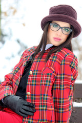 portrait fashion winter christmas