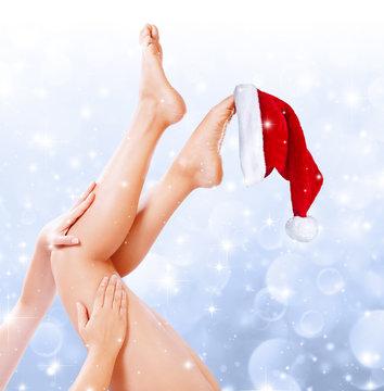 legs beauty treatment of christmas