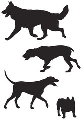 dog breed silhouettes 7