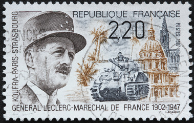 Timbre France Général Leclerc
