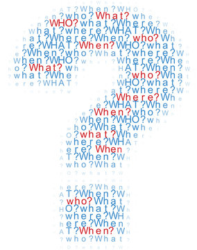 Questions who what where when words